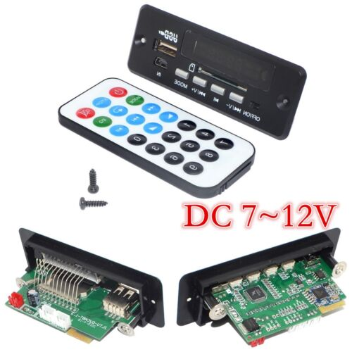 DC 7~12V 2P Connection Car Bluetooth Music Decode Board with Bluetooth Module+FM