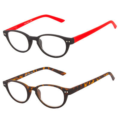 Black Round Oval Reading Spring Hinges Glasses Readers John Lenon Harry Potter - Lenon Glasses