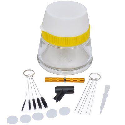 Airbrush Zubehör Pistole säubern Cleaning Pot Bürsten Nadeln Reinigungs Set