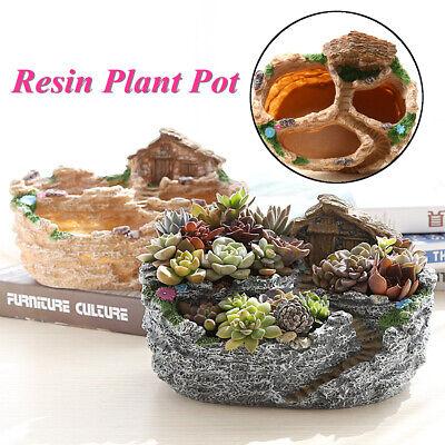 Creative Flower Planter Garden Herb Succulent Plant Resin Pot Box Container Dec