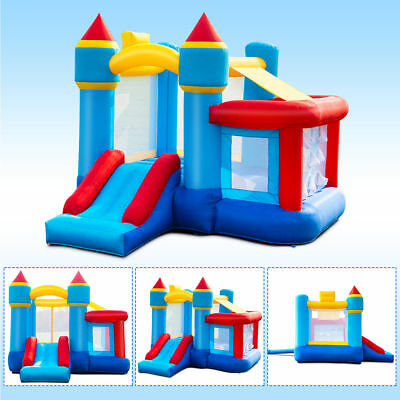 Inflatable Basketball Hoop (Kids Outdoor Inflatable Bouncy Bounce House Blow Up Castle Slide Basketball)