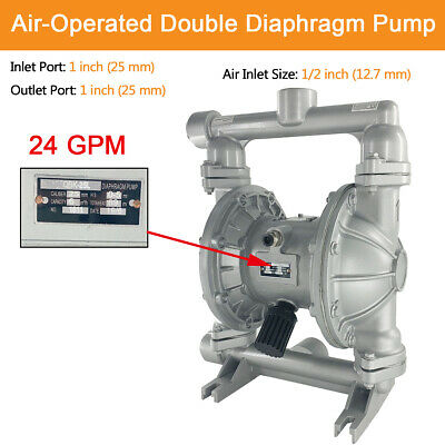 Air-operated Double Diaphragm Pump 1 Inch Inletoutlet 115 Psi 24gpm Us Stock