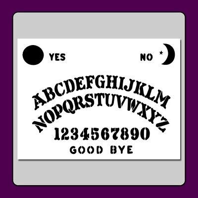 9 X 12 Ouija/Spirit Board STENCIL Craft/Airbrush Supernatural/Ghost/Halloween