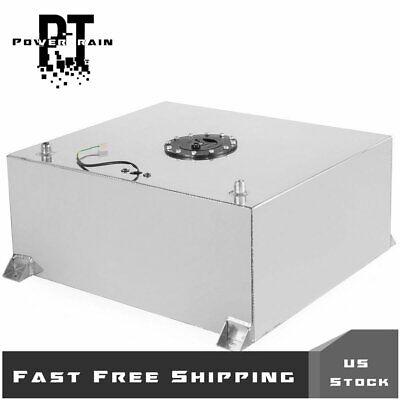 80L/20 Gallon Polished Aluminum Race Drift Fuel Cell Tank Level Sender