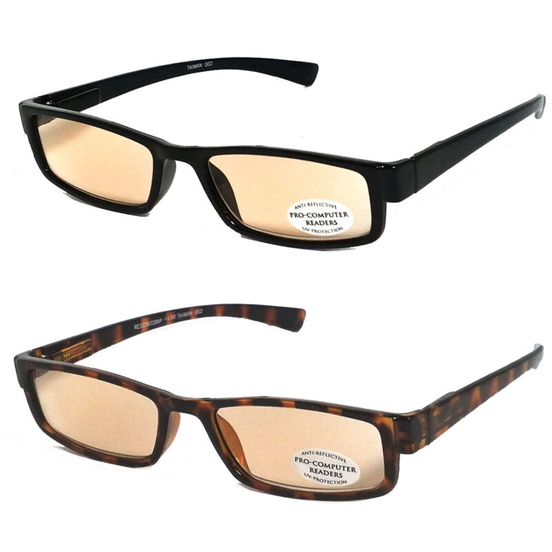 Pro Computer Anti Reflective Tinted Lens UV Protect Sun Reader Reading Glasses