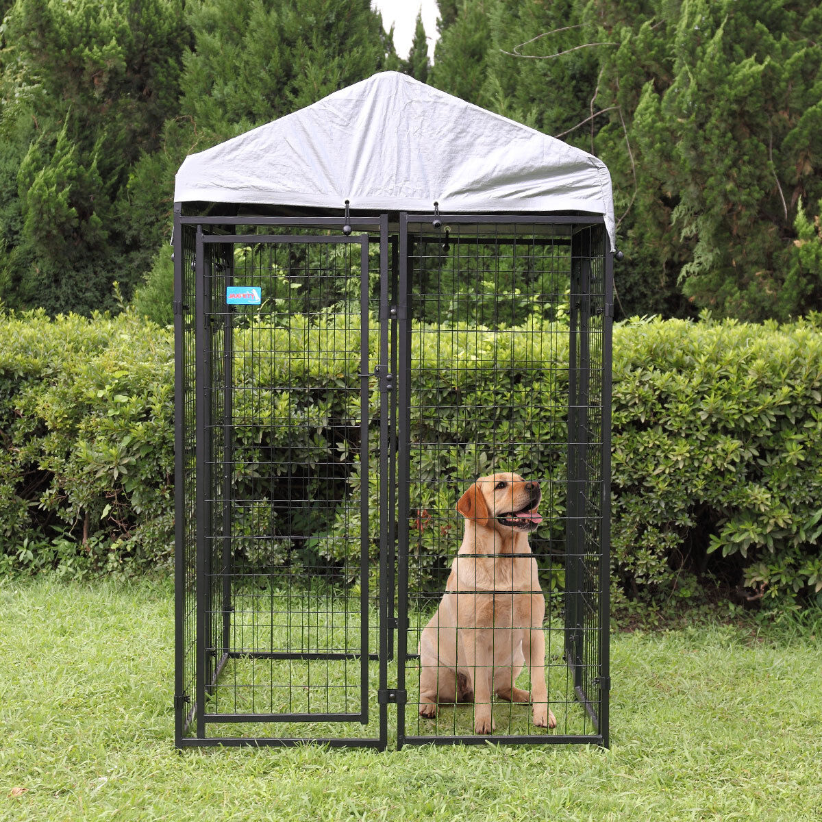 Kennel Steel Wire Pen Run House Outdoor Pet Cage Dog Covered Shade Shelter Yard - $102.50