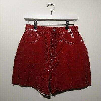 JUNYA WATANABE COMME DES GARCONS RED PATENT PVC SHORTS/CULOTTES REI KAWABOBO