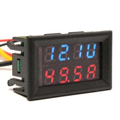 0.28'' 30/100V 10A Dual Digital Voltmeter Ammeter LED Volt Meter Gauge Blue$Red