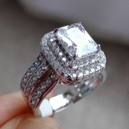 newshe women wedding band engagement ring double