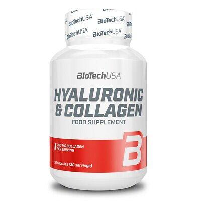 Biotech USA HYALURONIC & COLLAGEN best for healthy skin, joints, hair, (Best Collagen For Skin)