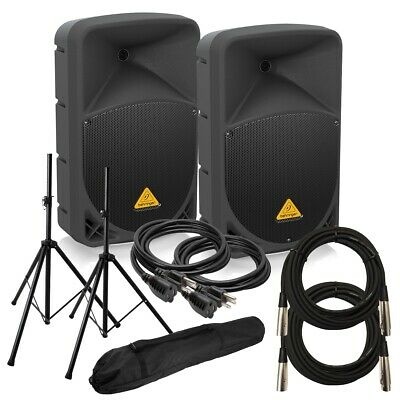 Behringer Eurolive B112D Powered PA Speaker STAGE KIT
