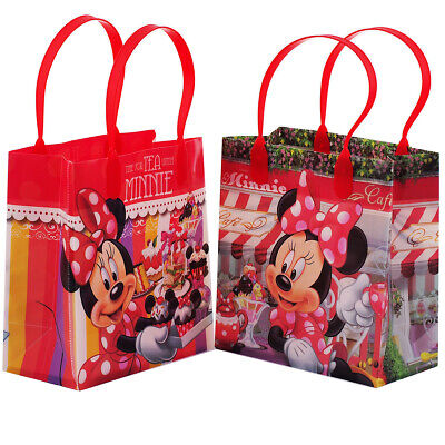 12PCS Disney Minnie Mouse Authentic Goodie Party Favor Gift Birthday Loot Bags](Minnie Mouse Party Favor Bags)
