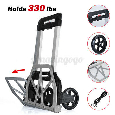 330lbs Cart Folding Dolly Luggage Collapsible Trolley Push Hand Truck Moving