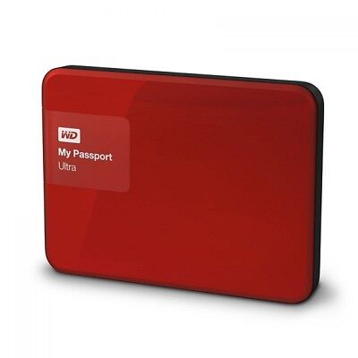 WD My Passport Ultra 2TB Red Portable External Hard Drive USB 3.0 WDBBKD0020BRD