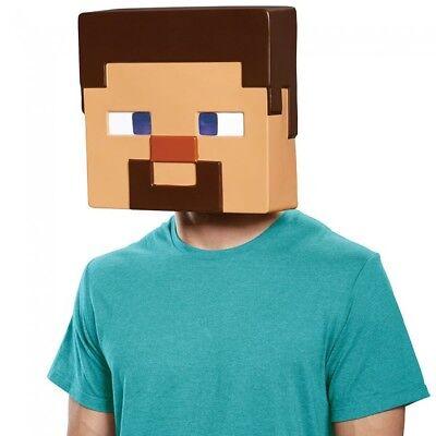 Steve Adult Mask Minecraft  Mine Craft Costume Halloween Gift (Minecraft Steve Maske)
