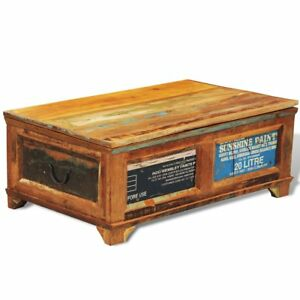 Coffee Table Storage Wood Trunk Furniture Living Room Rustic Reclaimed  Weathered