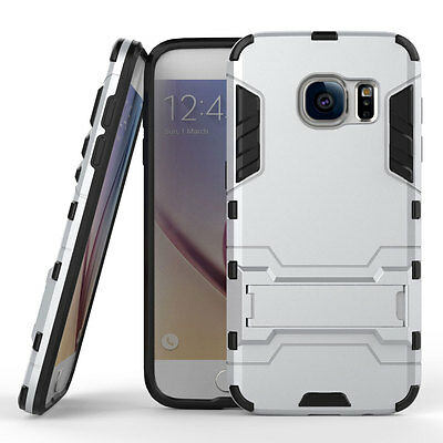 Armor Shockproof Hybrid Rugged Rubber Case Cover For Samsung Galaxy S7 Silver
