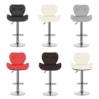 Set of 2 Bar Stool PU Leather Modern Dining Chair Counter Kitchen Pub Table - Kitchen Counter Bar Stool