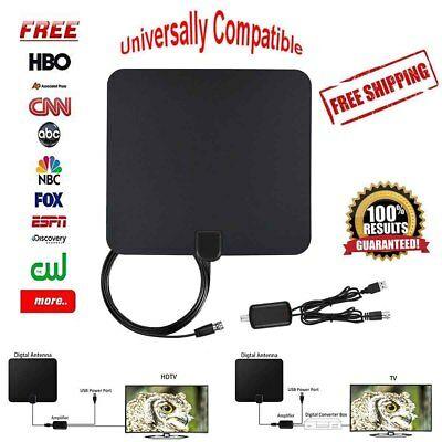 Hdtv 1080P Indoor Amplified Antenna Digital Hd Tv 150 Mile Uhf Vhf Fm High Gain