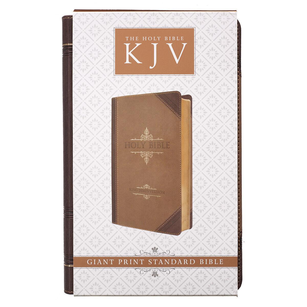 Купить KJV Holy Bible King James Version Brown Large Print Red Letter Edititon NEW