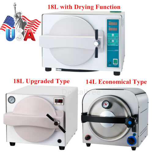 14L/18L Dental Autoclave Steam Sterilizer Medical Sterilization/Drying Function