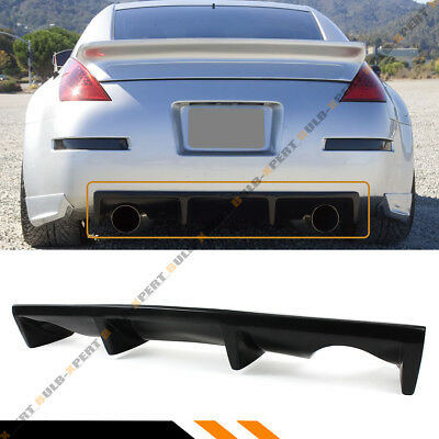 For 2003-2009 Nissan 350Z Z33 Fairlady Z JDM Shark Fin Rear Bumper Diffuser Lip