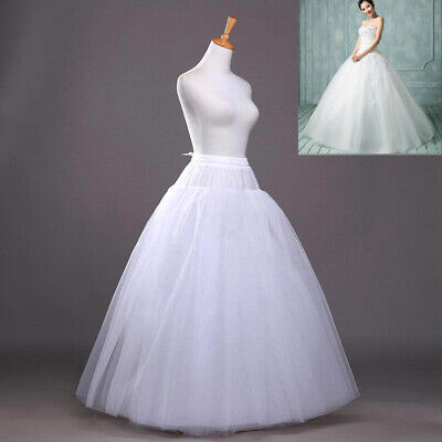 ☆8-Layers Beauty Bridal Petticoat Crinoline Long Wedding Dress Underskirt  A+ D