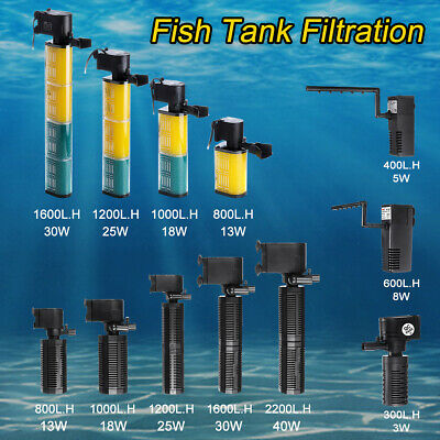 Fish Tank Aquarium Internal Submersible Water Power Filter Filtration Pump