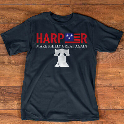 Harper Make Philly Great Again Liberty Bell Funny T Shirt Baseball (Liberty Baseball T-shirt)
