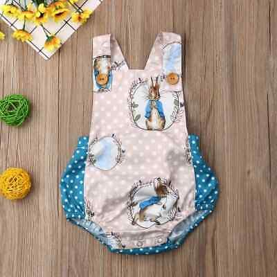 NWT Peter Rabbit Easter Bunny Rabbit Baby Girls Sleeveless Romper Jumpsuit