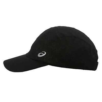 Asics Lightweight Running Exercise Fitness Training Cap Hat Black