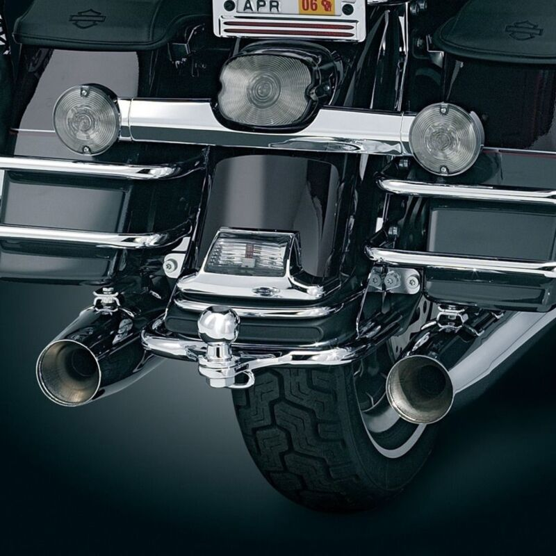 HK MOTO Motorcycle Black Heavy Duty Trailer Hitch w// Ball For 1980-2008 Harley Touring Tour Glide FLT 1980-1983// Electra Glide Classic 1996-2006