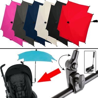 SONNENSCHIRM / SCHIRM für Kinderwagen / Buggy (UV-SCHUTZ 50+) Sonnenschutz Baby-