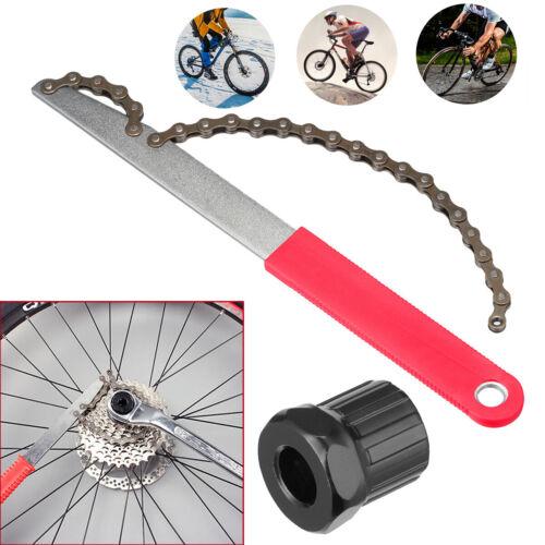Bicycle Bike Remover Repair Tool Cassette Freewheel Chain Whip Sprocket Lock Kit