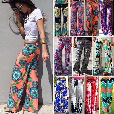 Women Harem Pants Hippie Wide Leg Gypsy Yoga Dance Boho Loos