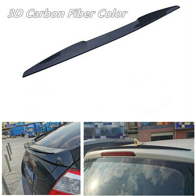 115cm 3D Carbon Fiber Color Car Rear Boot Trunk Spoiler Lip Wing Sport Trim Lid