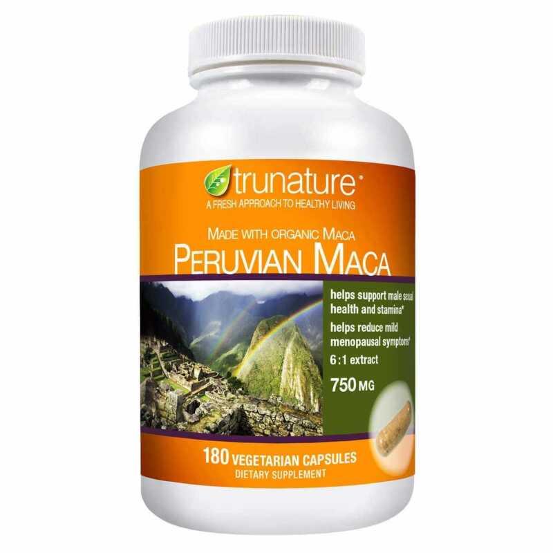 trunature peruvian maca 750 mg 180 vegetarian