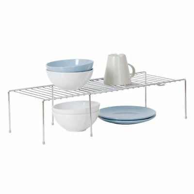 Tidy Living - Chrome Expanding Shelf Kitchen Cabinet Storage Adjusting Organizer
