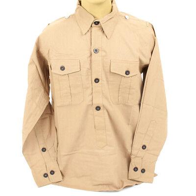 German WWII DAK Light Brown Field Shirt- L: US (German Light)