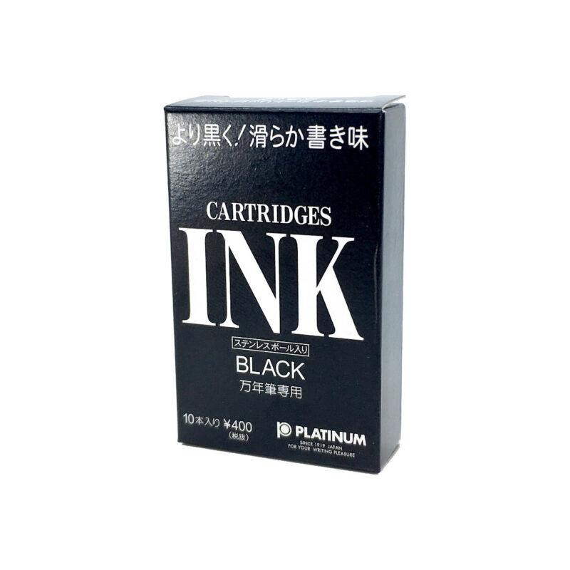 Platinum Fountain Pen Ink Cartridges - Box of 10 - Black