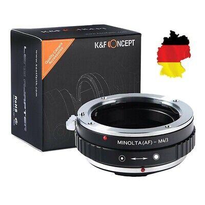 K&F Concept AF-M4/3 Adaptador Para Minolta AF Lente Sobre Micro4/3 Kamera