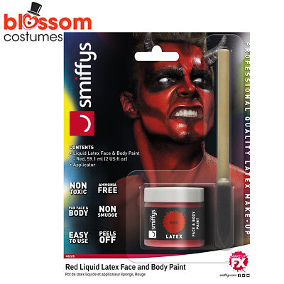 AC191 Red Devil Demon Liquid Latex Halloween Makeup Costume Special FX Make Up ()