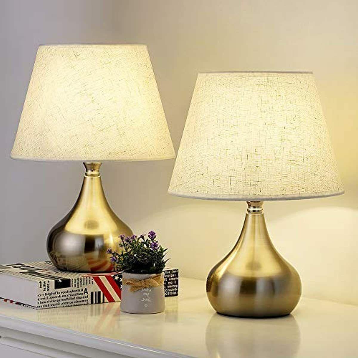 Rzchome Small Bedside Table Lamps Set Of 2 Unique Elegant Bedside Desk Lamps W Ebay