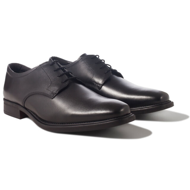 Redfoot Black Leather Gibson Derby Lace Up Mens Shoes UK 9/Euro 43 RRP £
