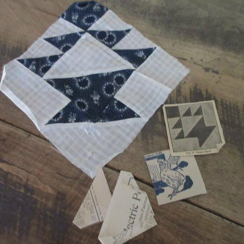 Sampler of 15 Vintage 30s QUILT Blocks with Her Patterns & Notes