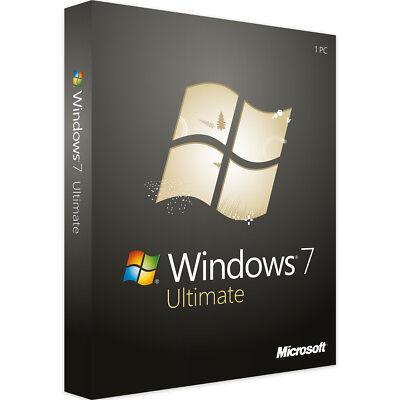 Windows 7 Ultimate 32 & 64 Bit - Neu & Original - Vollversion Key - Download (Windows 7 Ultimate Vollversion)