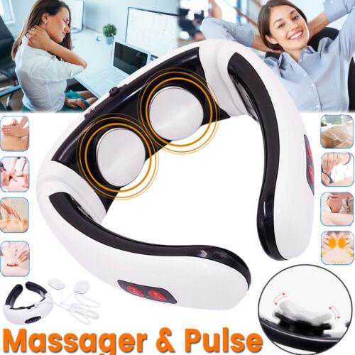 Elektrisch Nackenmassagegerät U-Neck Halswirbel Schulter Rücken Shiatsu Massage