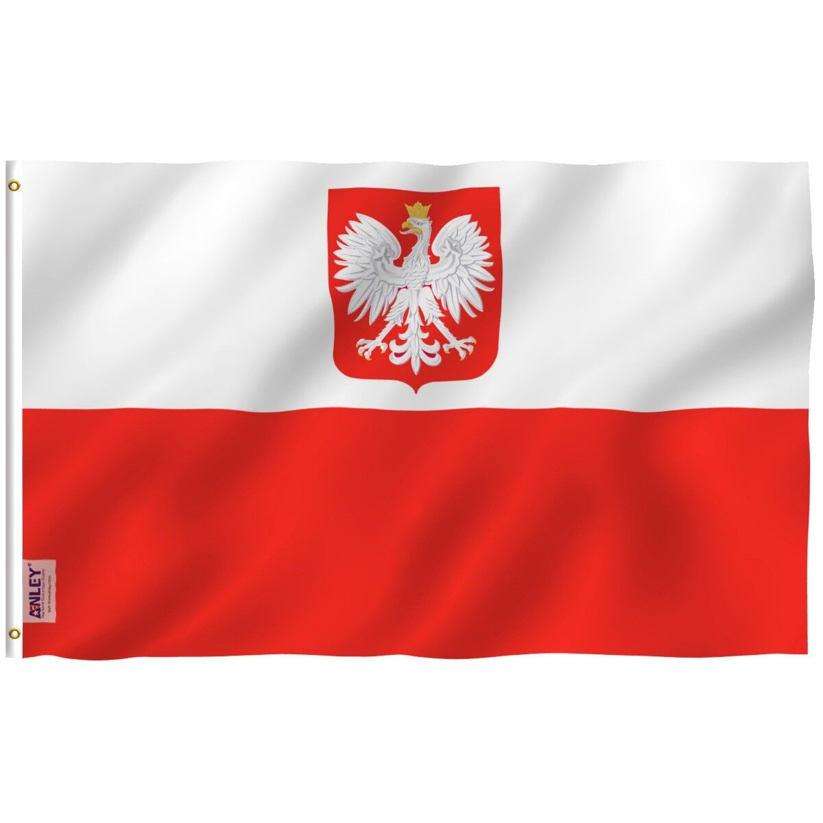 Anley Fly Breeze 3x5 Foot Poland State Ensign Flag Polish Ea