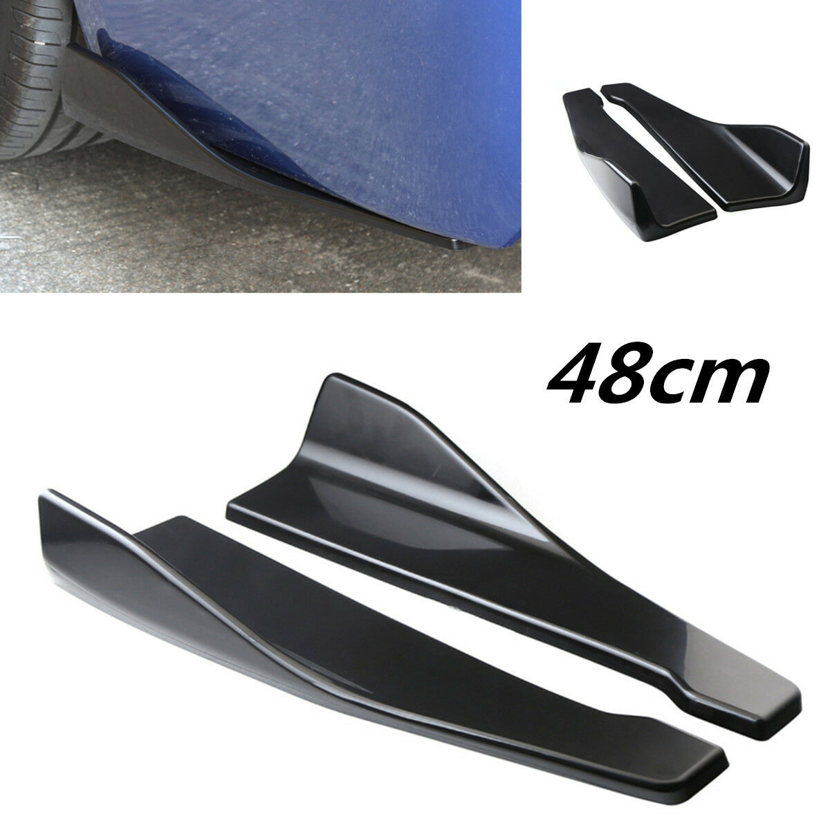 Car Parts - 2Pcs Car Accessories Bumper Spoiler Rear Lip Angle Splitter Diffuser Protector