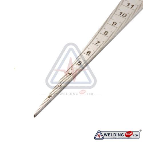 Welding Taper Gauge slot width gap hole size gage metric /& inch 2.3mm plate